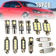13Pcs 12V White Front/Rear Dome Reading Lamp Canbus Car Interior LED Chip Light Bulb Kit For V-W G-olf 6 MK-6 GT-I 2010-2015