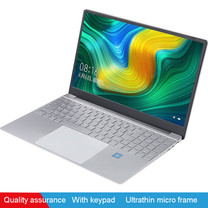 Laptop Student computer 15 inch 8GB RAM 256GB SSD Windows 10 Intel Quad Core 1920x1080P Ultra Thin Notebook Office laptop