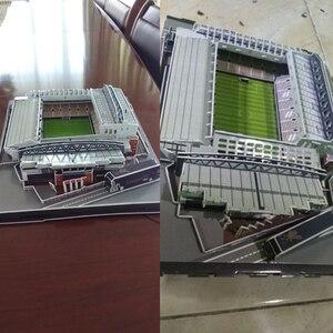 Image 3 - الكلاسيكية بانوراما ثلاثية الأبعاد لغز إنكلترا أنفيلد الهندسة المعمارية ريدز ملاعب كرة القدم اللعب موديلات صغيرة مجموعات بناء ورقة