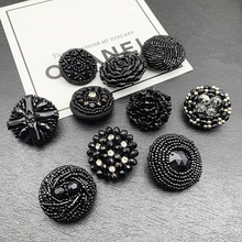 Crystal-Buttons Rhinestone Coat Clothing Sewing-Accessories Handmake Round Big Bead