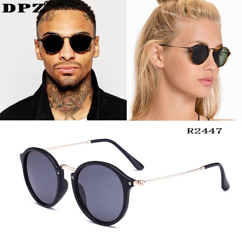 Luxury Brand Women Sunglasses Brand Designer Round Clear Lens Sunglasses Metal Men Vintage Uv400 Sun Glasses