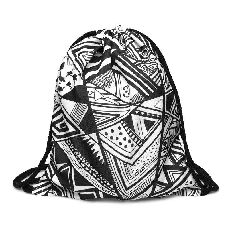 Backpack Drawstring BAGS Drawstring Fashion 3D Printing  Travel Softback Men Bags Unisex Women's Shoulder Bag Knapsack  Hot New