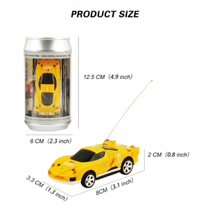 Image 4 - 8 Colors 20Km/h Coke Can Mini RC Car Radio Remote Control Micro Racing Car 4 Frequencies Toy For Kids Gifts RC Models Hot Sales