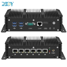 XCY Mini PC Core i5 7200U i3 7100U 6x Gigabit LAN Intel i211 NIC RS232 WiFi 4G LTE AES-NI Run pfSense OPNsense Firewall Router
