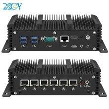 XCY Mini PC güvenlik duvarı yönlendirici çekirdek i5 7200U i3 7100U 6x Gigabit LAN Intel i211 NIC RS232 WiFi 4G LTE AES-NI PfSense çalıştırın OPNsense