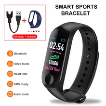 Bluetooth Smart Bracelet Men Women Blood Pressure Heart Rate Step Counter fitness tracke waterproof m3 smart band