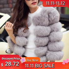 Women Faux Fur Coat Autumn Winter Jacket New Fashion Casual Warm Lady Plus Size Imitation Fox Fur Overcoat Female Long Sleeves