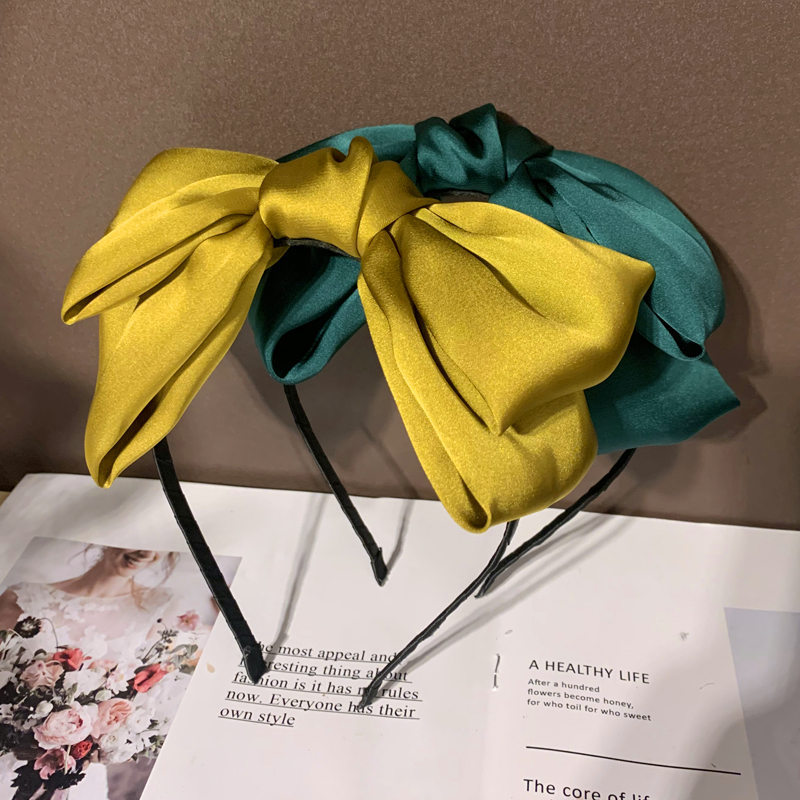 2020 Vintage Big Bow Hair Clips Bezel Hair Band Women Headband Girls Hoop Hair Accessories Opaska Do Wlosow Diademas Haarband