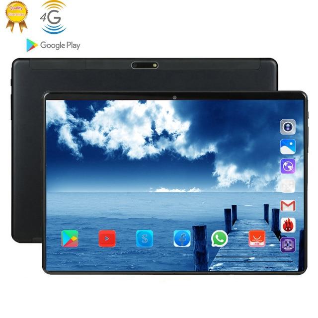 탭 phablet 10 태블릿 화면 mutlti 터치 안드로이드 9.0 octa 코어 ram 6 gb rom 64 gb 카메라 8mp wifi 10.1 인치 태블릿 4g lte pro pc