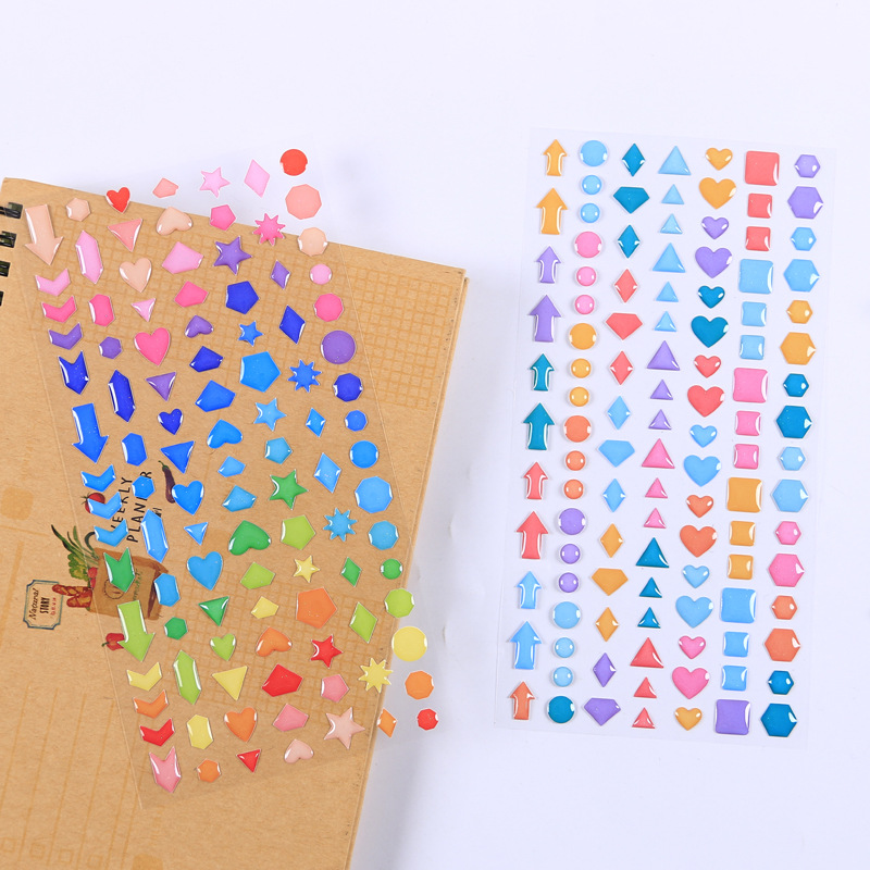 1 Pcs/1lot Kawaii Stationery Stickers Cartoon Star 3D Diary Decorative Mobile Stickers Scrapbooking DIY Craft Stickers