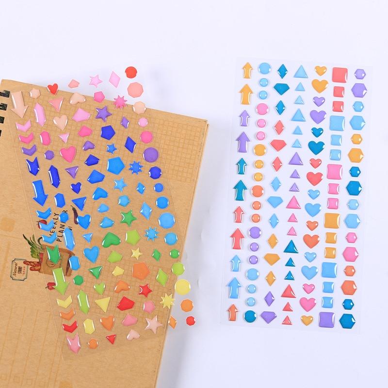 1 Pcs/1lot Kawaii Stationery Stickers Cartoon Star 3D Diary Decorative Mobile Stickers Scrapbooking DIY Craft Stickers