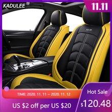 KADULEE luxury leather car seat covers for dodge caliber caravan journey nitro ram 1500 intrepid stratus of 2018 2017 2016 2015