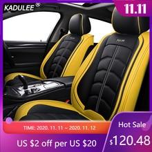 غطاء مقعد سيارة فاخر من الجلد من KADULEE مناسب لسيارات دودج كاليبر ، غطاء كرفان للسفر نيترو رام 1500 بوصة من 2018 2017 2016 2015
