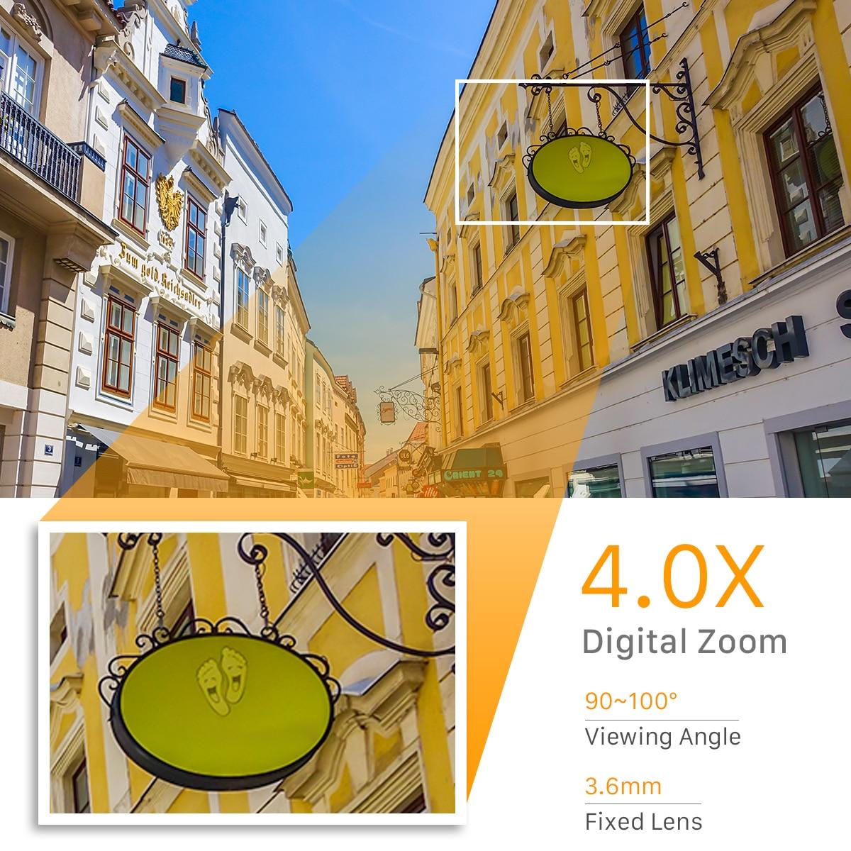 1080P PTZ Wifi IP Camera Outdoor 4X Digital Zoom AI Human Detect Wireless Camera