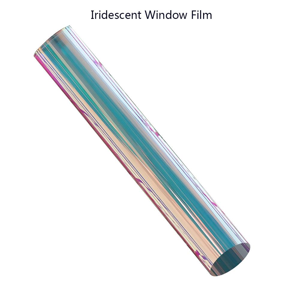 Original SUNICE 0.68x15m irisé fenêtre Film dichroïque arc en ciel effet autocollant décalcomanie Film pour Festival décoration noël - 5