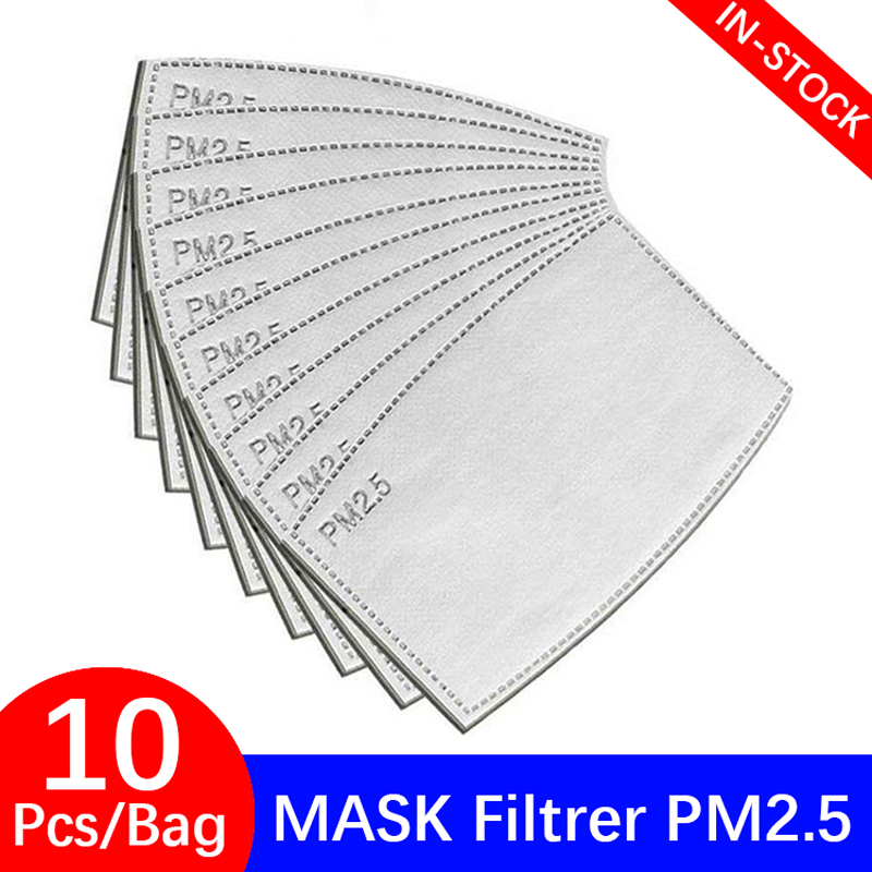 PM 2.5 Face Mask Filter Dust Anti Haze 5 Ply 95 Activated Carbon Filter Adults Mouth Masks Protection Respirator FPP2 25 50 Pcs