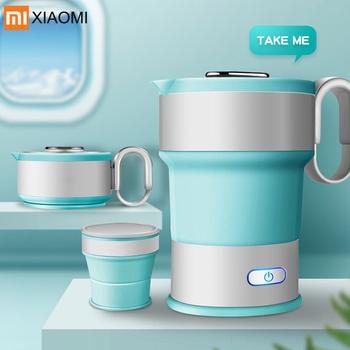 YouPin przenośne elektryczne czajnik składany podróży dziecko silikonowy czajnik Camping bojler na wodę czajnik do herbaty automatyczny duża moc Off czajnik tanie i dobre opinie XIAOMI Underpan Heating CN (pochodzenie) Poniżej 1000 W 240 v 1L Bezpieczna funkcja automatycznego wyłączenia Podziałka