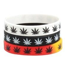 Silicone Bracelet&Bangles Black White Color Wristband Fashion Jewelry print 1pc Bracelet