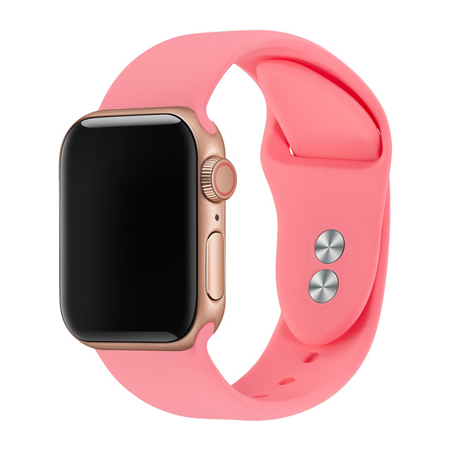 Watch Band For Apple Watch Strap 38mm 40mm 42mm 44mm Double Buckle Silicone IWatch Band