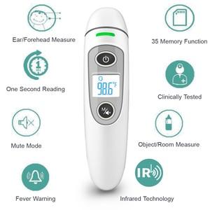 Image 4 - Hot Koop Digitale Infrarood Thermometer Lcd Baby Kids Voorhoofd Oor Non contact Volwassen Koorts Meting Termometro Gezondheidszorg