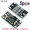 5 шт. мини DC-DC повышающий преобразователь 3V 3,2 V 3,3 V 3,7 V 5V 9V 12V Напряжение Регулятор модуль платы блока программного управления может установит...