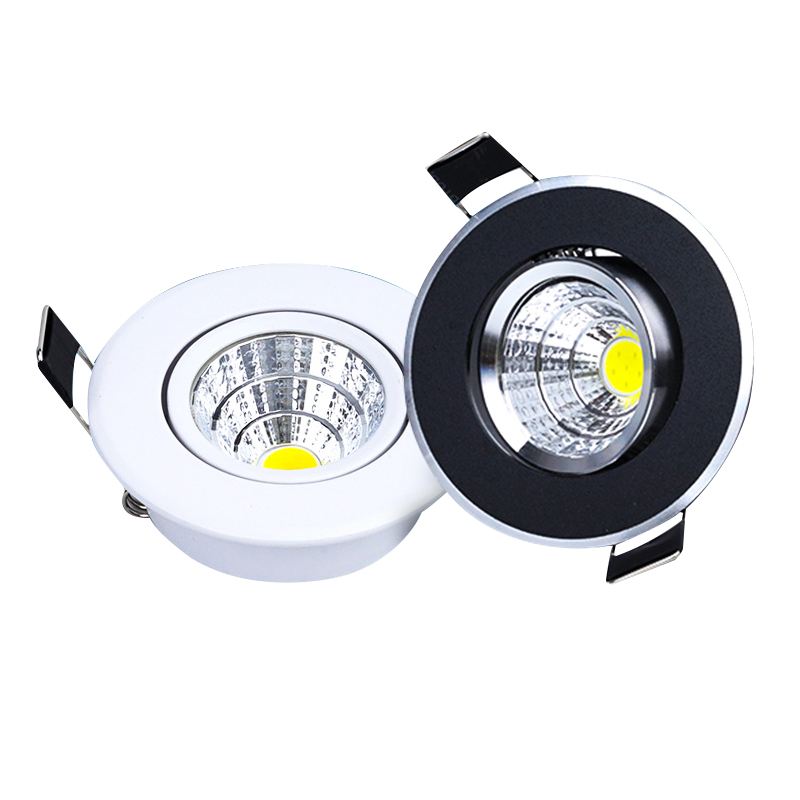 Dimmable LED COB Downlight AC110V 220V 3W Recessed LED Spot Light Lumination Indoor Decoration Ceiling Lamp
