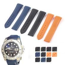 Bracelet de montre en caoutchouc à extrémité incurvée, 20mm 21mm 22mm, pour montre Pagani HUAWEI GT2 Magic Watch 2 Honor Samsung Galaxy Watch S3 S4