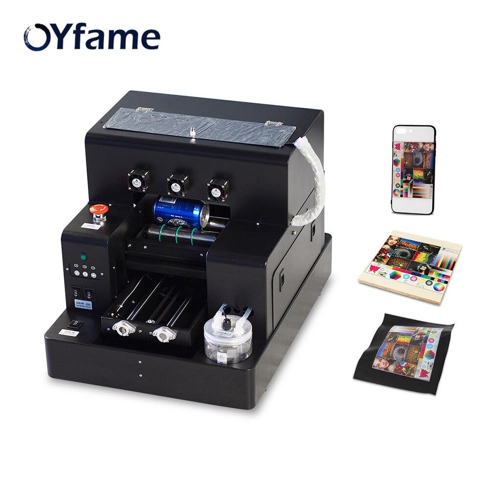 OYfame A4 platforma UV drukarka do etui na telefon butelka maszyna do druku UV do obudowy telefonu metalowa szklana maszyna do drukowania na butelkach