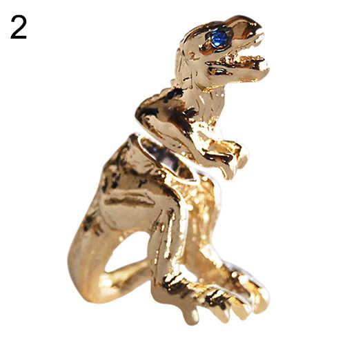1 Pc פאנק מגניב דינוזאור t-rex עגיל טירנוזאורוס רקס חמוד הדרקון Stud