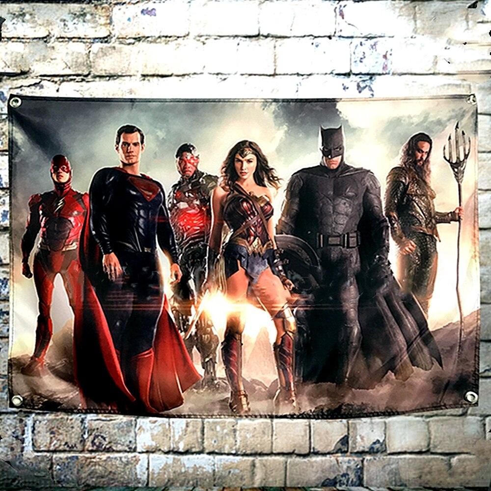 516 Justice League Hero Art Wall Cloth Poster Print