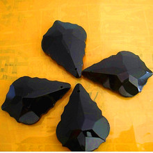 Chandelier-Parts Crystal-Lamp-Parts 50mm Diy Black 12pcs Top-Quality Leaf-Shape Wedding-Party