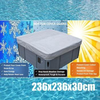 Cubierta Universal para bañera de 236x236x30cm, Cubierta impermeable a prueba de polvo/UV, gorro para SPA, Cubierta protectora para Jacuzzis Hotspring Spa Cubrir Cubiert