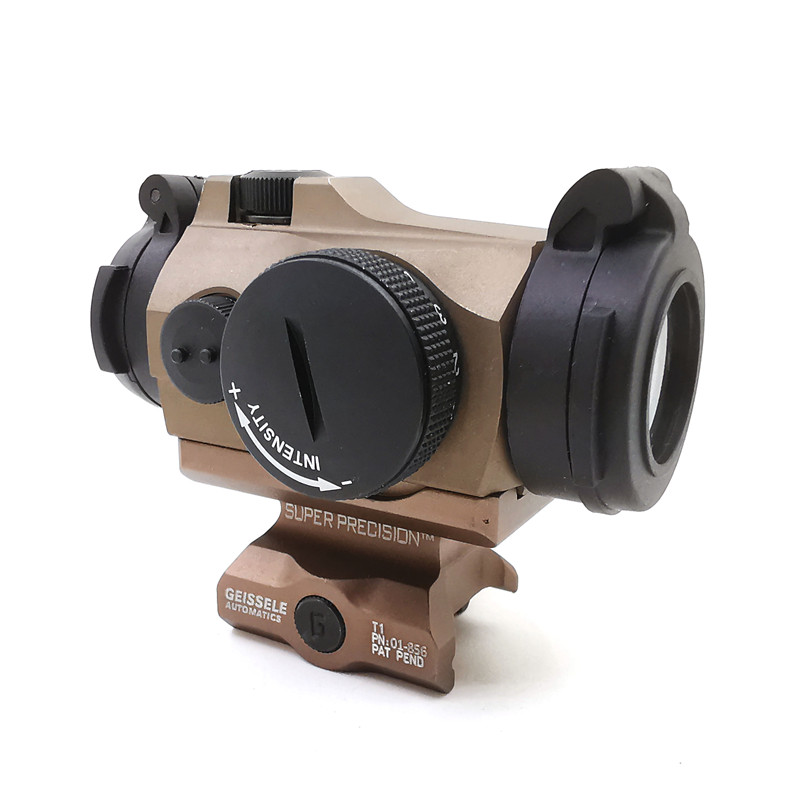 SOTAC-GEAR Tactical Rifescope Sight 2MOA T2 Sight Illuminated Sniper Red Green Dot Sight With Quick Release Red Dot Scope 4