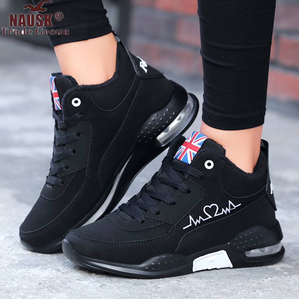 New Women's Sneakers Women Shoes Woman High-Top Cotton Sport Shoes Student Lace Up Casual Sneakers Zapatillas Mujer