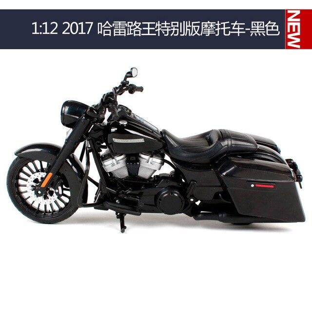 Maisto 1:12 Harley Davidson 2017 Road King, металлическая модель мотоцикла, игрушки для детей, подарок на день рождения, коллекция игрушек
