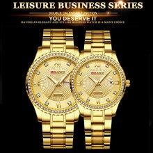 Fashion Couple Casual Quartz Watches Stainless Steel Military Clock Men's Quartz