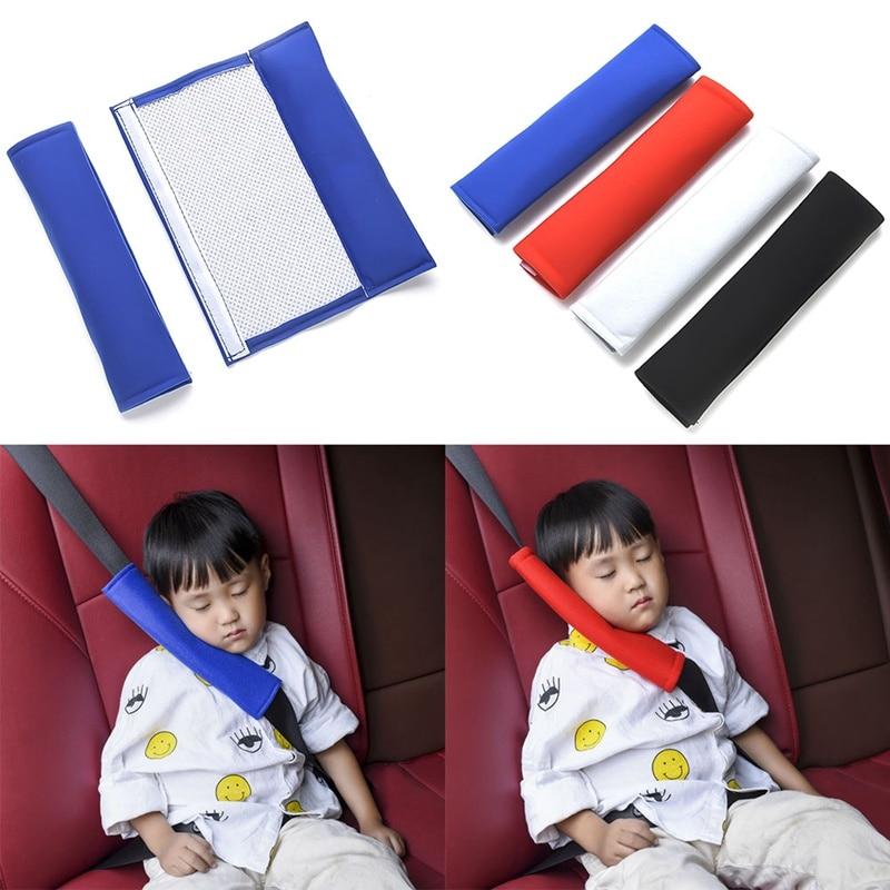 2 шт./лот, автомобильный хлопковый ремень безопасности для детей, Защита плеч, накладка на ремень безопасности, чехол для автомобиля
