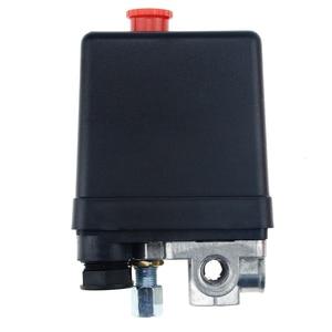 "Image 1 - 1/4 ""normalde kapalı 220/380V 20A 90 125PSI hava kompresörü basınç kontrol anahtarı vana plastik kabuk"