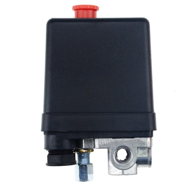 Valve de commutateur de contrôle de pression pour compresseur dair, 1/4 pouces, 220/380V, 20A 90 125PSI, coque en plastique