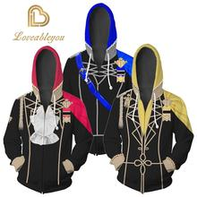 Game Fire Emblem Three Houses Eliwood Costumes Seth Jackets Cosplay Costume 3D Printing Zip Up Hoodies Sweatshirts