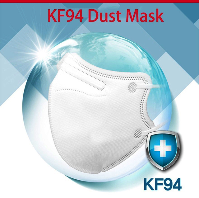 In Stock KF94 50PCS Pm2.5 Fine Dust Proof Anti-bacterial Mask Infectious Disease Protection Mask Antivirus and flu Mask Adult 3
