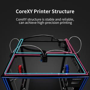 Image 5 - TRONXY büyük DIY 3D yazıcı Cyclops 2 çift renkli ekstruder isı yatak dokunmatik ekran büyük boy 500*500*600mm X5SA 500 2E