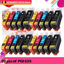 20 шт для canon pgi 525 cli 526 чернильный картридж принтера