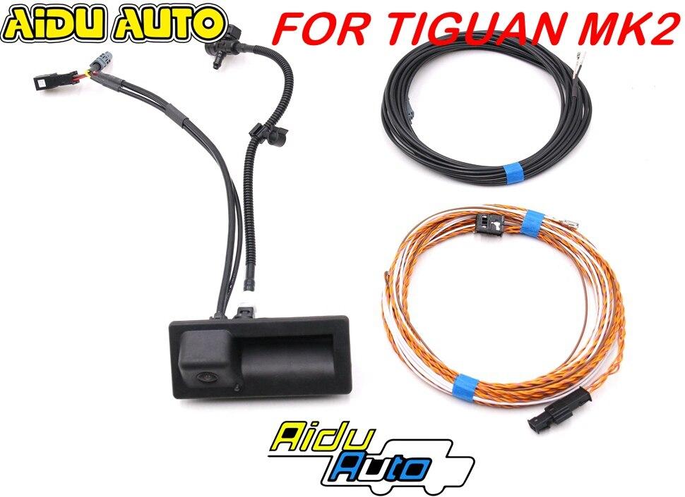 Для MQB Tiguan MK2 new touran 5T 5NA827566D 5NA 827 566 D камера заднего вида ручка багажника водный распылитель линия стирки