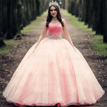 Розовые платья quinceanera принцесса Золушка с 3d цветами открытыми