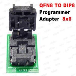 Image 2 - QFN8 כדי DIP8 מתכנת מתאם WSON8 DFN8 MLF8 כדי DIP8 שקע עבור 25xxx 6x5 3x2 8x 6mm המגרש = 1.27mm