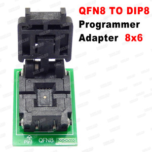Image 2 - QFN8 to DIP8 Programmer Adapter WSON8 DFN8 MLF8 to DIP8 socket for 25xxx 6x5 3x2 8x6mm Pitch=1.27mm