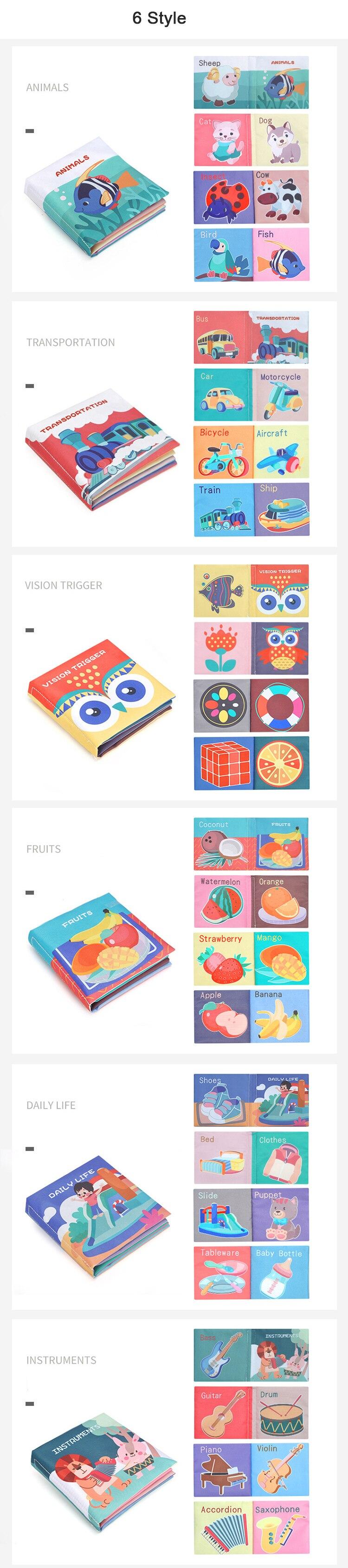 sensorial pano livro para bebês criança aprendizagem
