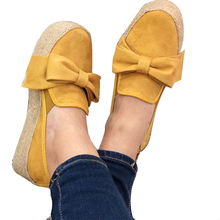 цены Thick Bottom Pumps Breathable Flat Fashion Loafers Casual Platform Solid Slip On Soft Bowknot Autumn Round Toe Women Shoes