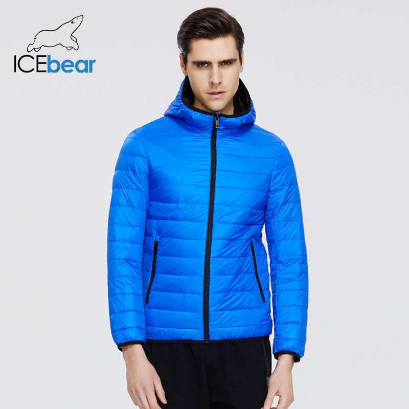 ICEbear 2020 ใหม่น้ำหนักเบาลงเสื้อสบายๆชายเสื้อ hooded แจ็คเก็ตผู้ชายเสื้อผ้า MWY19998D